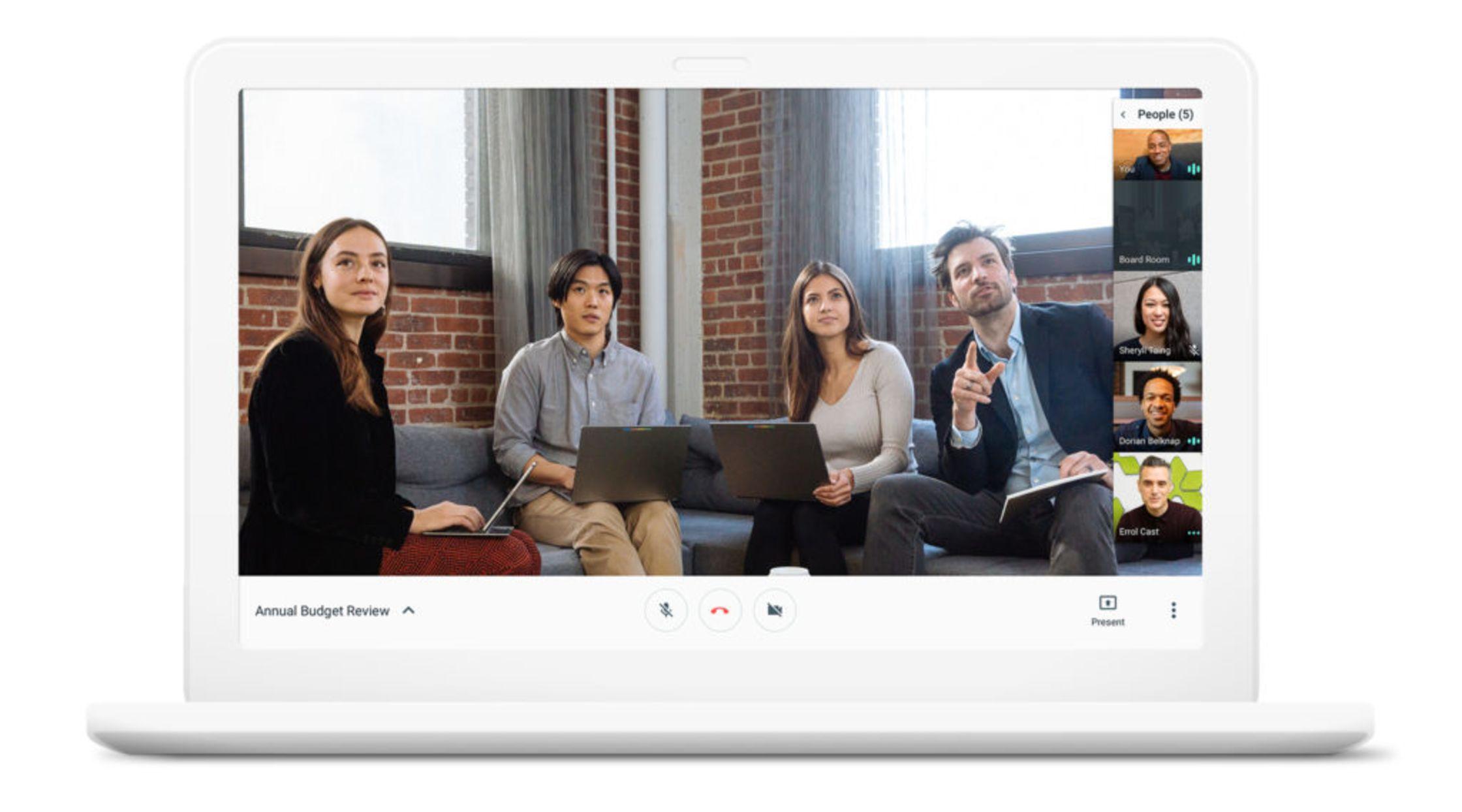 Videomeeting mit Google Meet