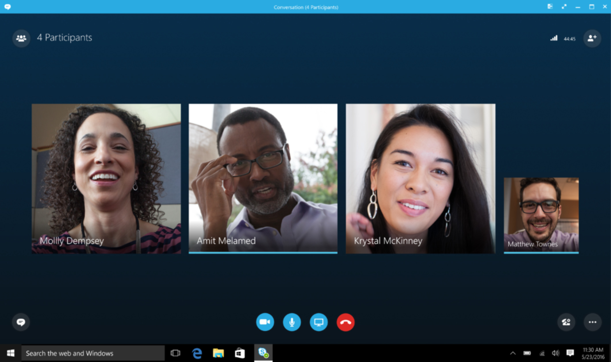 Videocall mit Skype