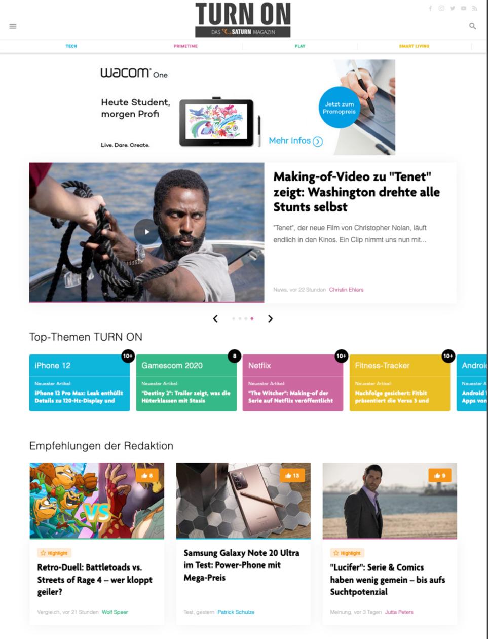 TURN ON, das Technik-Magazin von SATURN, wird von Content Fleet konzepiert und produziert