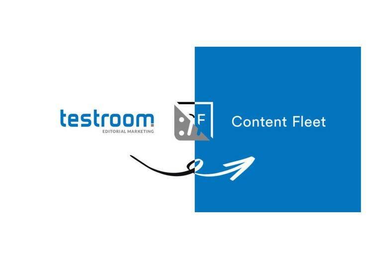 Infografik testroom und Content Fleet fusionieren